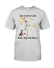 Life Is Better With Wine Dogs And Ballet Shirt Premium Fit Mens Tee thumbnail
