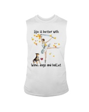 Life Is Better With Wine Dogs And Ballet Shirt Sleeveless Tee thumbnail