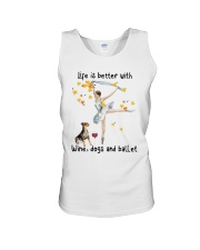 Life Is Better With Wine Dogs And Ballet Shirt Unisex Tank thumbnail