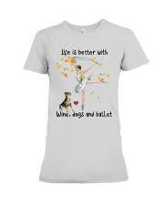 Life Is Better With Wine Dogs And Ballet Shirt Premium Fit Ladies Tee thumbnail