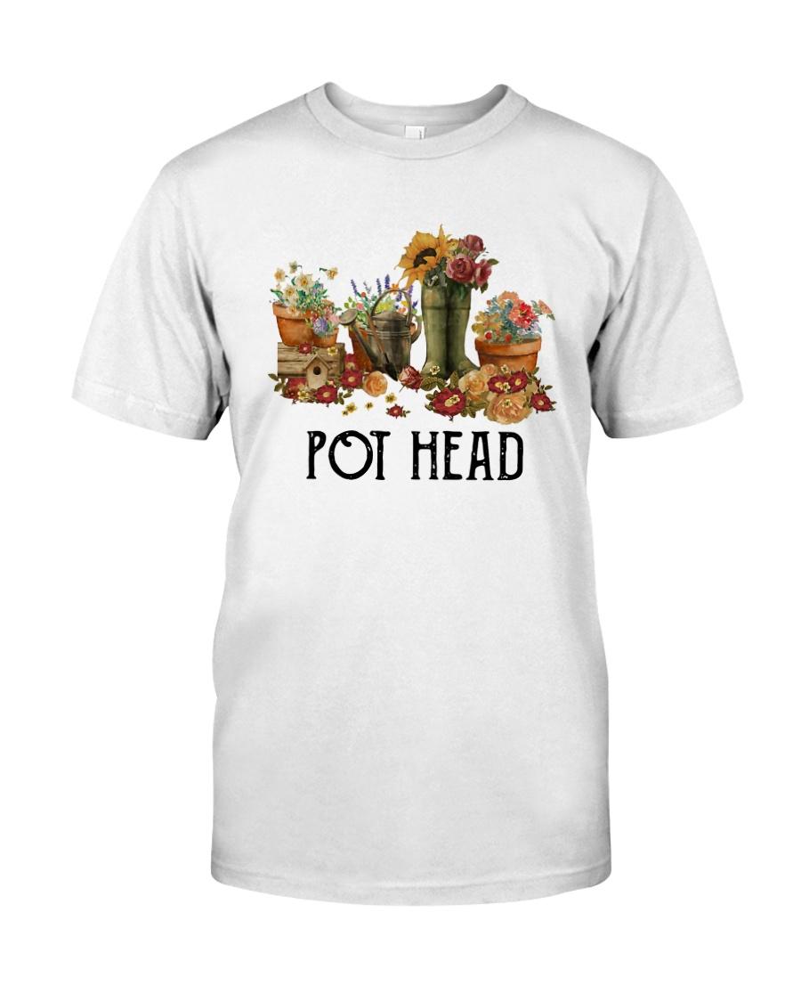 Garden Flower Pot Head Shirt Classic T-Shirt