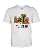 Garden Flower Pot Head Shirt V-Neck T-Shirt thumbnail