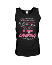 There Was Girl Who Really Loved Wine Camping Shirt Unisex Tank thumbnail