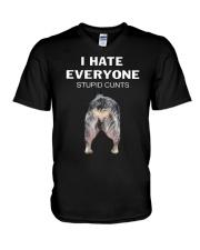 Heeler I Hate Everyone Stupid Cunts Shirt V-Neck T-Shirt thumbnail