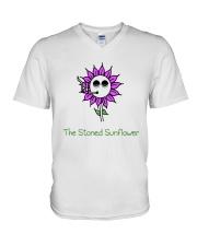 The Stoned Sunflower Shirt V-Neck T-Shirt thumbnail