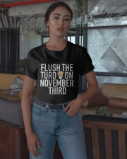 Dwayne Johnson Flush The Turd On November Shirt Classic T-Shirt apparel-classic-tshirt-lifestyle-05
