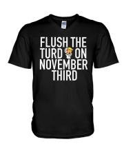 Dwayne Johnson Flush The Turd On November Shirt V-Neck T-Shirt thumbnail