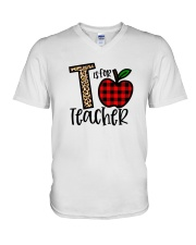 T Is For Teacher Shirt V-Neck T-Shirt thumbnail