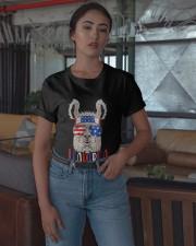 American Flag Llamerica Shirt Classic T-Shirt apparel-classic-tshirt-lifestyle-05