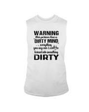 Warning This Person Has A Dirty Mind Shirt Sleeveless Tee tile