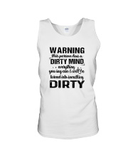 Warning This Person Has A Dirty Mind Shirt Unisex Tank thumbnail