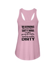 Warning This Person Has A Dirty Mind Shirt Ladies Flowy Tank thumbnail