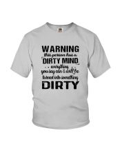 Warning This Person Has A Dirty Mind Shirt Youth T-Shirt tile