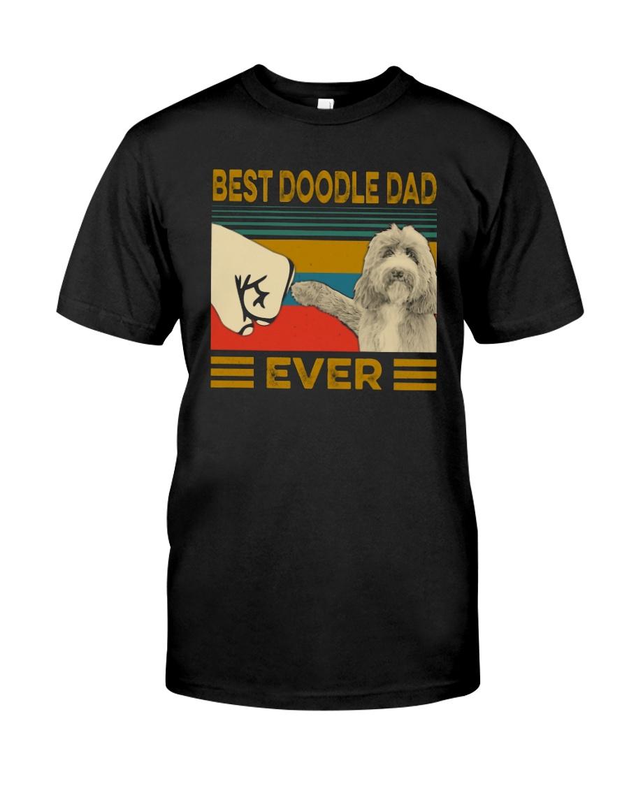 Vintage Best Doodle Dad Ever Shirt Classic T-Shirt