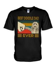 Vintage Best Doodle Dad Ever Shirt V-Neck T-Shirt thumbnail