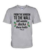 From The Window To The Wall Till Santa Deck Shirt V-Neck T-Shirt thumbnail