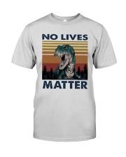 Vintage Dinosaurs No Lives Matter Shirt Premium Fit Mens Tee thumbnail