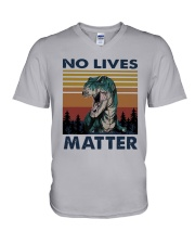 Vintage Dinosaurs No Lives Matter Shirt V-Neck T-Shirt thumbnail