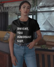 Official Dwight You Ignorant Shirt Classic T-Shirt apparel-classic-tshirt-lifestyle-05