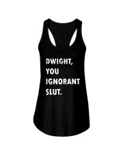 Official Dwight You Ignorant Shirt Ladies Flowy Tank thumbnail
