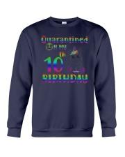 Unicorn Quarantined On My 10th Birthday Shirt Crewneck Sweatshirt thumbnail