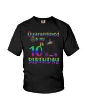 Unicorn Quarantined On My 10th Birthday Shirt Youth T-Shirt thumbnail