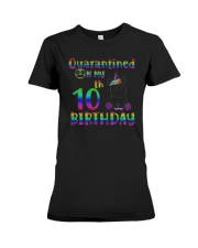 Unicorn Quarantined On My 10th Birthday Shirt Premium Fit Ladies Tee thumbnail