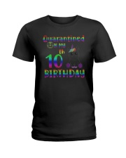 Unicorn Quarantined On My 10th Birthday Shirt Ladies T-Shirt thumbnail