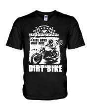I Ride Boys That Ride Dirt Bike Shirt V-Neck T-Shirt thumbnail