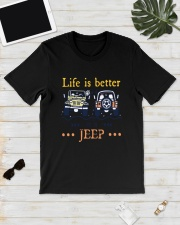 Life Is Better In A Jeep Shirt Classic T-Shirt lifestyle-mens-crewneck-front-17