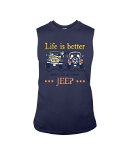 Life Is Better In A Jeep Shirt Sleeveless Tee thumbnail