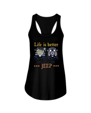 Life Is Better In A Jeep Shirt Ladies Flowy Tank thumbnail