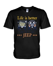 Life Is Better In A Jeep Shirt V-Neck T-Shirt thumbnail