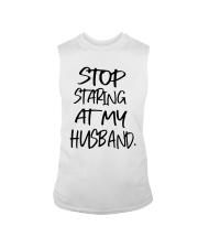 Stop Staring At My Husband Shirt Sleeveless Tee thumbnail