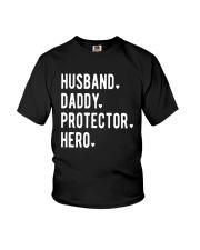 Official Husband Daddy Protector Hero Shirt Youth T-Shirt thumbnail