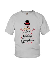 Snowman I Love Being A Grandma Shirt Youth T-Shirt thumbnail