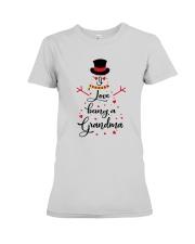 Snowman I Love Being A Grandma Shirt Premium Fit Ladies Tee thumbnail