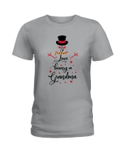 Snowman I Love Being A Grandma Shirt Ladies T-Shirt thumbnail