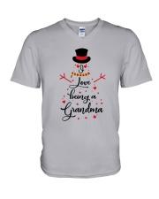 Snowman I Love Being A Grandma Shirt V-Neck T-Shirt thumbnail