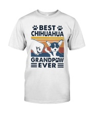 Vintage Best Chihuahua Grandpaw Ever Shirt Classic T-Shirt front