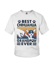 Vintage Best Chihuahua Grandpaw Ever Shirt Youth T-Shirt thumbnail
