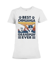 Vintage Best Chihuahua Grandpaw Ever Shirt Premium Fit Ladies Tee thumbnail