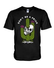 Skull Don't Be A Prick Shirt V-Neck T-Shirt thumbnail