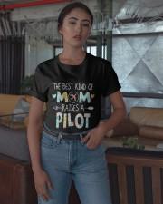 The Best Kind Of Mom Raises A Pilot Shirt Classic T-Shirt apparel-classic-tshirt-lifestyle-05