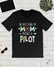The Best Kind Of Mom Raises A Pilot Shirt Classic T-Shirt lifestyle-mens-crewneck-front-17