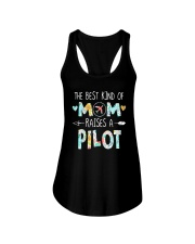 The Best Kind Of Mom Raises A Pilot Shirt Ladies Flowy Tank thumbnail