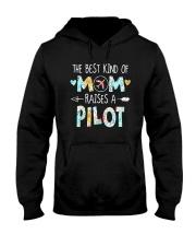 The Best Kind Of Mom Raises A Pilot Shirt Hooded Sweatshirt thumbnail