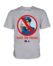 Fuck The Police Shirt V-Neck T-Shirt tile