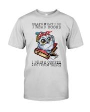 Owl That's What I Do I Read Books Coffee Shirt Premium Fit Mens Tee thumbnail