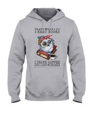 Owl That's What I Do I Read Books Coffee Shirt Hooded Sweatshirt thumbnail
